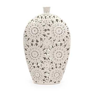 Imax Large White Ceramic Vase - Home Depot