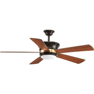 Progress Lighting Harranvale Collection 54 in. LED Indoor Antique Bronze Ceiling Fan with Light Kit and Remote - Home Depot