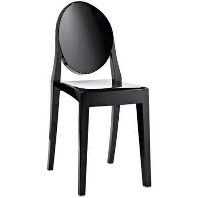Casper Black Dining Side Chair - Home Depot