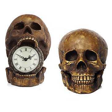 Skull Table Clock - Z Gallerie