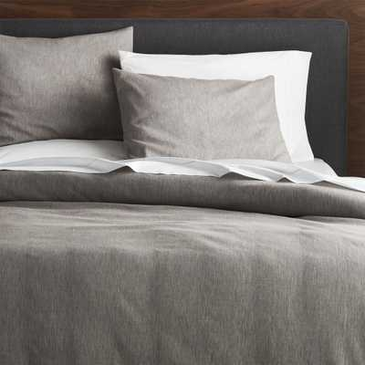 Linden Grey King Duvet Cover - Crate and Barrel