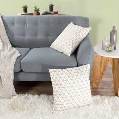 Modern Triangle Ivory Decorative Pillow - Home Depot