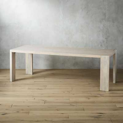 """Blox White Wash Dining Table 35""""x91"""" - CB2"""