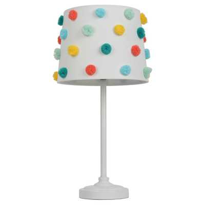 Pom Pom Shade Table Lamp - Pillowfort, Multicolored - Target