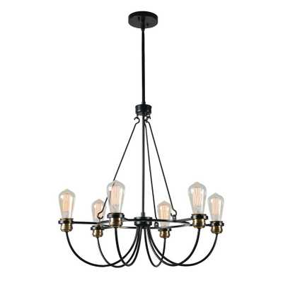 Kenroy Home Damien 6-Light Black Chandelier - Home Depot