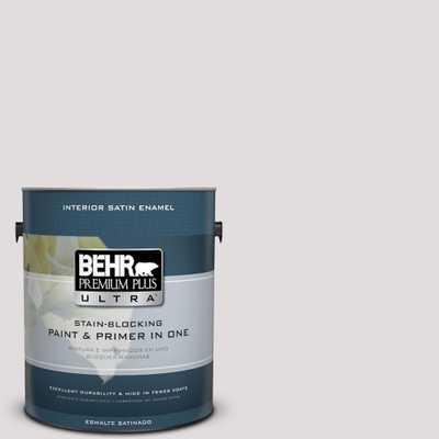 BEHR Premium Plus Ultra 1-gal. #PR-W7 Fading Fog Satin Enamel Interior Paint, Grays - Home Depot