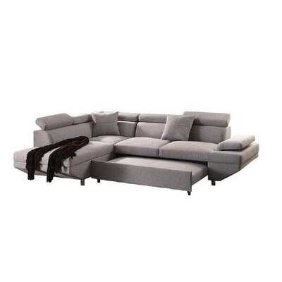 Sectional Sofa With Sleeper In Gray - Wayfair