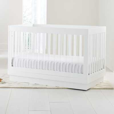 Babyletto Harlow Acrylic and White 3-in-1 Convertible Crib - Crate and Barrel