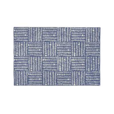 Tally 5 x 8' Blue Rug - Crate and Barrel