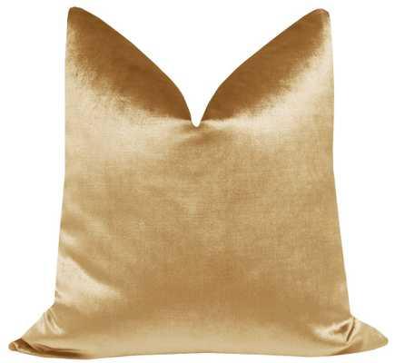 """Faux Silk Velvet // Gold - 20"""" X 20"""" - Little Design Company"""