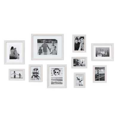 Bordeaux White Picture Frame (Set of 10) - Home Depot