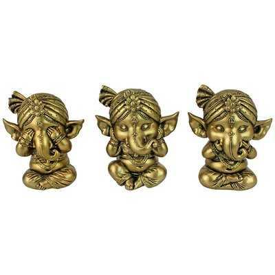 See-No Hear-No Speak-No Evil Lord Ganesha Figurine - Wayfair