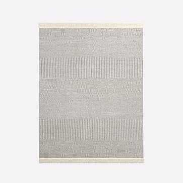 Tweed Flatweave Dhurrie, Iron, 8'x10' - West Elm