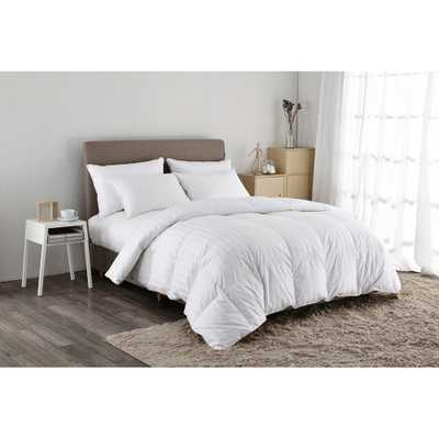 500 Thread Count White Goose Down Comforter Twin in White - Home Depot