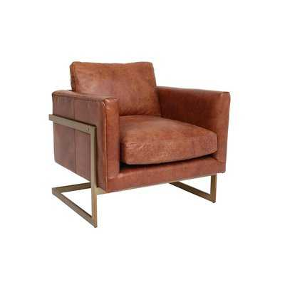 Cavin Leather Lounge Chair - Wayfair