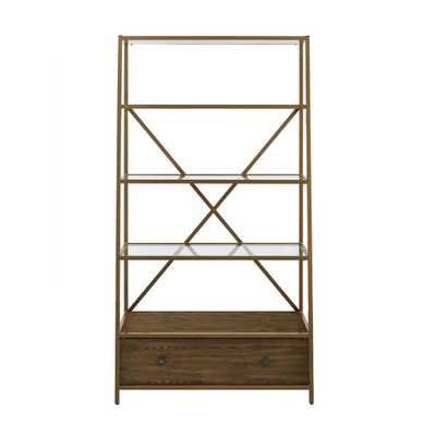 Terra Brass Pyramid Bookcase Etagere - Home Depot