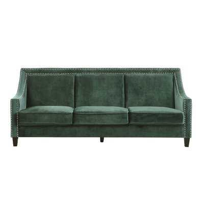 Trista Nailhead Trim Wood Legs Couch Sofa - Wayfair