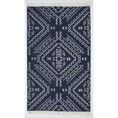 Christen Handmade Flatweave Denim Area Rug - AllModern