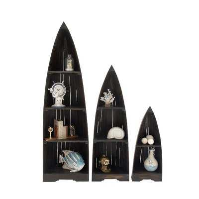 3 Piece Wood Boat Accent Shelves Set - Wayfair