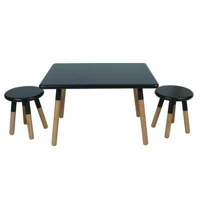 Dansby Kids 3 Piece Writing Table and Stool Set - AllModern