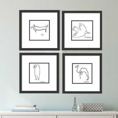 Pablo Picasso 4 Piece Framed Print Set - Wayfair