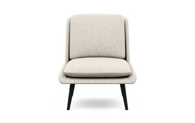 Hana Chairs with Slipper Chairs with Wheat Fabric and Matte Black legs - Interior Define