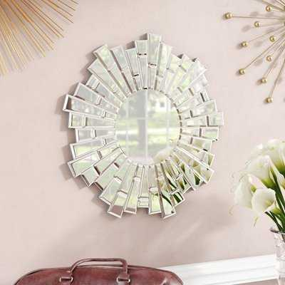 Naoma Modern Sunburst Glass Accent Mirror - Wayfair