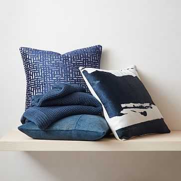 Textural Blues Pillow Set - Covers ONLY - West Elm