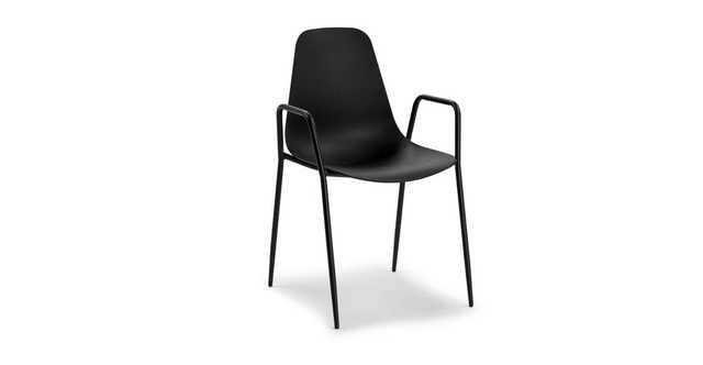 Svelti Pure Black Dining Armchair ( set of 2) - Article