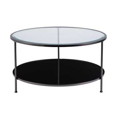 Cillian Black Cocktail Table - Home Depot
