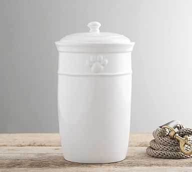 Cambria Pet Treat Canister, Stone - Pottery Barn