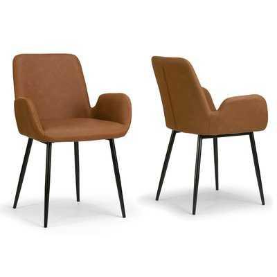 Milana Upholstered Dining Chair (Set of 2) - Wayfair