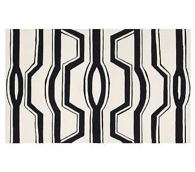 Coco Rug, 8x10', Black/White - Pottery Barn Kids