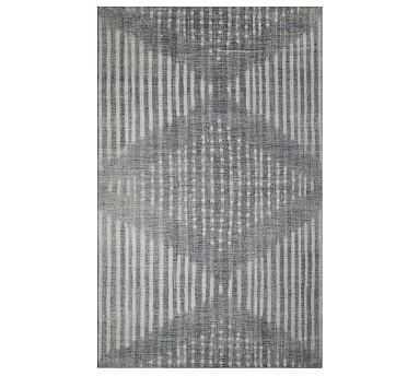 Shibori Indoor/Outdoor Rug, 8' x 10', Gray - Pottery Barn