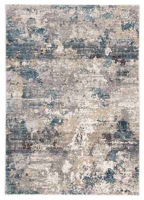 Carraco Abstract Blue/ Cream Area Rug (8'X11') - Collective Weavers