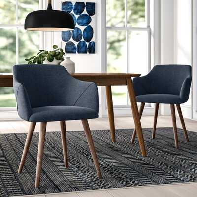 Brie Solid Wood Upholstered Dining Chair (set of 2) - AllModern