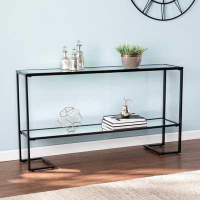 Southern Enterprises Ochila Black Glam Narrow Table, Black finish - Home Depot