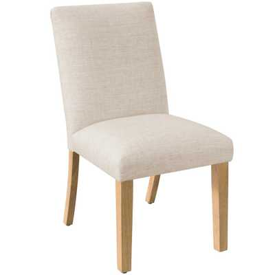 Linen Talc Pleated Dining Chair - Home Depot