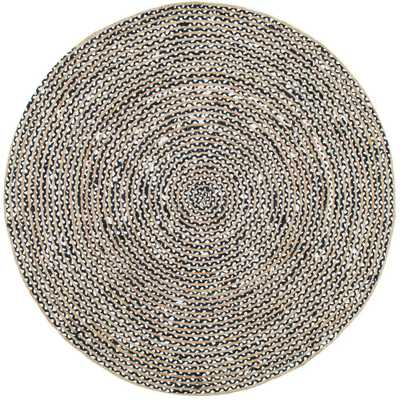 Glinda Natural Fiber Black 8 ft. x 8 ft. Round Area Rug - Home Depot