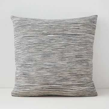 "Silk Ombre Striations Pillow Cover, Set of 2, 24""x24"", Midnight - West Elm"