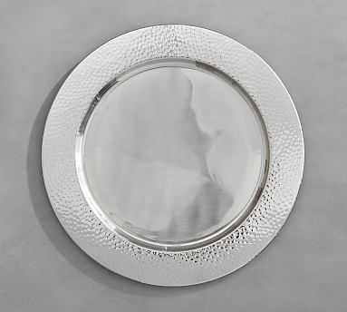 PB Hammered Nickel Charger - Pottery Barn