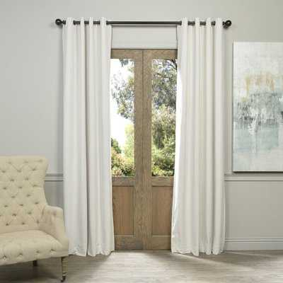 Sharpe Solid Velvet Blackout Grommet Single Curtain Panel - Birch Lane
