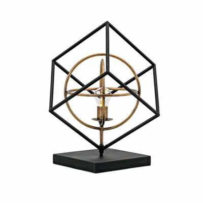 IMAX Glenby Small LED Sculpture, Black - Home Depot
