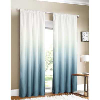 Dainty Home Shades 40 in. W x 84 in. L Ombre Design Window Panel Pair in Blue (2-Pack) - Home Depot