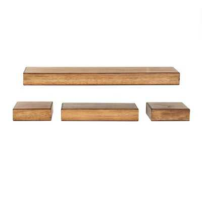 Foweler 4 Piece Floating Shelf Set - Wayfair