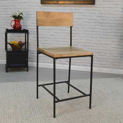 Berkshire 24 in. Chestnut and Black Bar Stool, Natural - Home Depot