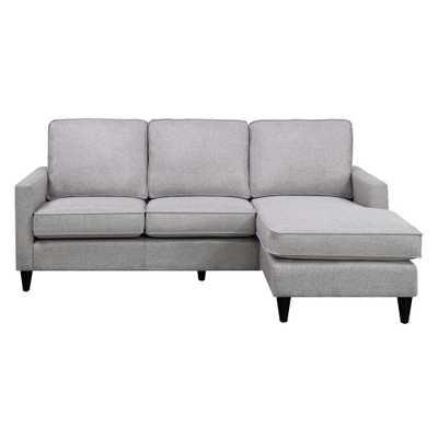 Element International Nori Reversible Gray Chaise Sectional, Grey - Home Depot