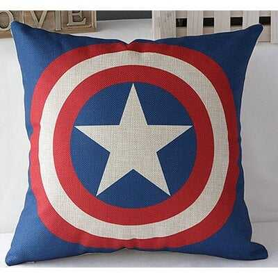 SuperHeroes Captain America Cotton Throw Pillow - Wayfair