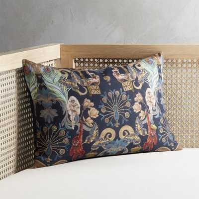 """""""18""""""""x12"""""""" Regal Monkeys Pillow with Feather-Down Insert"""" - CB2"""