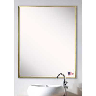 Rayne Mirrors 40.125 in. x 34.125 in. Tango Polished Gold Vanity Wall Mirror - Home Depot